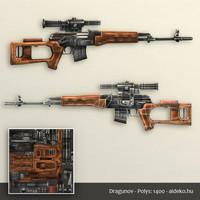 3d dragunov gun