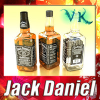 Photorealistic Liquor Bottle - Jack Daniel