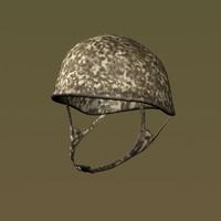 camouflaged army helmet obj