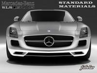3d model mercedes sls amg materials car