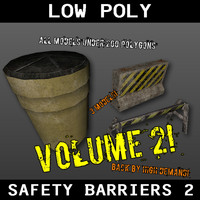free 3ds model safety barriers 2