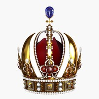 realistic royal crown 3d model
