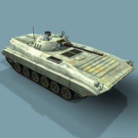 maya low-poly bmp-2m russian infantry