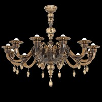 Barovier & Toso Fez 5602 Murano glass chandelier classic art deco modern(1)