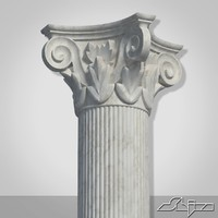 classical greek column 1 3d model