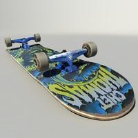 skate skateboard board 3d model
