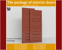 3d model package interior doors