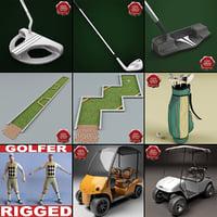 3d golf v3 golfer