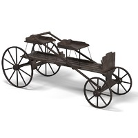 horse drawn carriage 3d 3ds