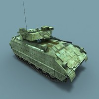 M2A3 Bradley Fighting Vehicle 3D Low-Poly Model