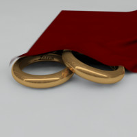 Two Wedding Rings and Cloth