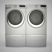 wash washer dryer 3d obj