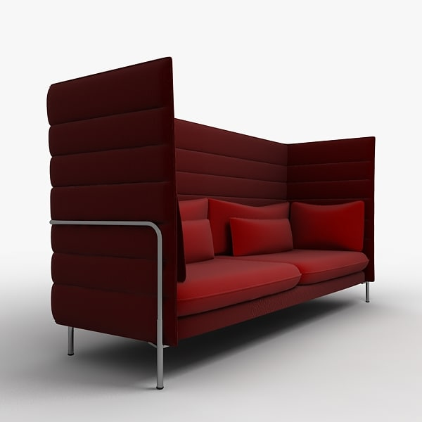 3ds max vitra alcove chair - Vitra Alcove chair 1... by PolygonFactory