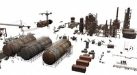 lightwave rusty industrial structures