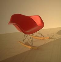 3d eames plastic armchair model