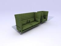 3d alcove sofa