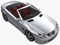 3d model mercedes benz sl500 interior
