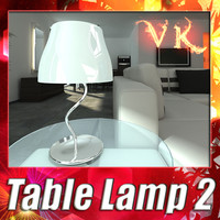 modern table lamp 02 3d model