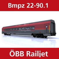 passenger train railjet 3ds