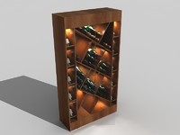luxury wine closet 3d model