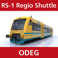 rs-1 regio shuttle passenger train 3d model