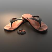 3d model slipper