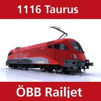3d model taurus train engine railjet