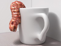 Ugly Worm in a Coffee Cup