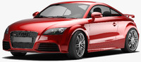 accurate audi tt rs 3d model