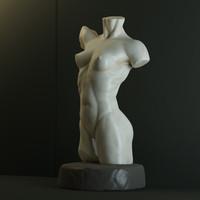 female torso statue 3d model
