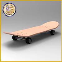 skate board skateboard 3d model