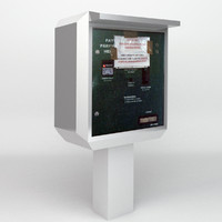 parking permit vending machine 3d obj