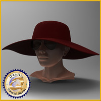 female head 3d obj
