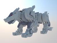 3d tiger mecha model