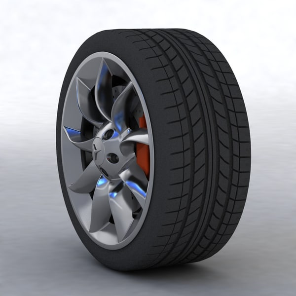 wheel tyre fbx - Wheel... by Game Art Seller