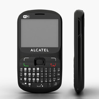 3d model alcatel ot-813 duos cell phone