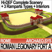 Roman Legionary Fort A & Scenery Square Plan