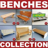 3d model benches v2