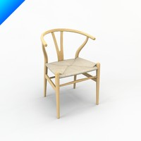 3ds ch24 wishbone chair hans wegner