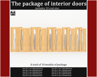 package interior doors 3d model
