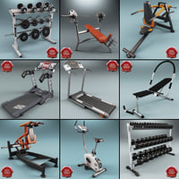 maya gym equipment v4
