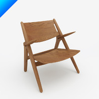 3d ch28 easy chair hans wegner model