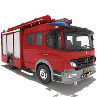 Mercedes Atego Fire Truck V2 Rigged