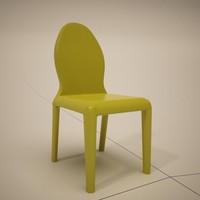 cattelan italia morgana dining chair 3d model