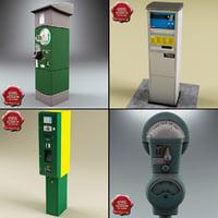 3d parking meters