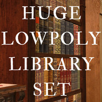 Huge Library Set, Low Poly