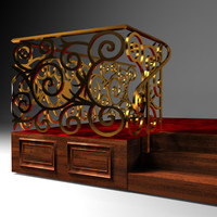 decorative balustrade 3d model