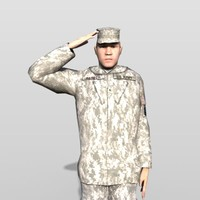 3d soldier army model