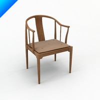 hans wegner china chair design 3d 3ds