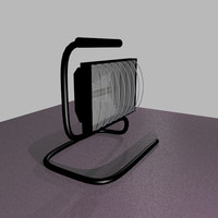 3d model work light lamp